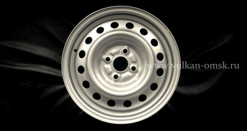 Диск Штамп. R15 5*114.3 +45/60.1 silver Racing